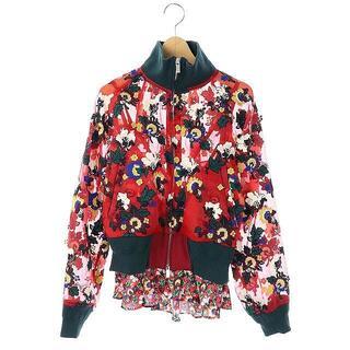 サカイ(sacai)のサカイ sacai シースルー フラワー刺繍 ジャケット ブルゾン ジップアップ(ブルゾン)