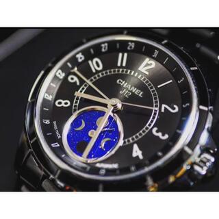 シャネル(CHANEL)のお値下げ中 極美品 CHANEL J12 ムーンフェイズ ファーズ ドゥ リュヌ(腕時計(アナログ))