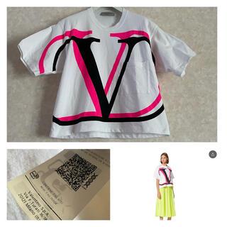 ヴァレンティノ(VALENTINO)のヴァレンティノ Tシャツ VALENTINO VLTN ピンク XS  (Tシャツ(半袖/袖なし))