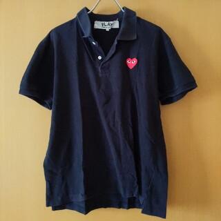 コムデギャルソン(COMME des GARCONS)のCOMME des GARCONS 黒 ポロシャツ L(ポロシャツ)