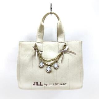 ジルバイジルスチュアート(JILL by JILLSTUART)のジルバイジルスチュアート - 白 キャンバス(ハンドバッグ)