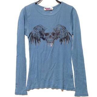 ヒステリックグラマー(HYSTERIC GLAMOUR)のヒステリックグラマー レディース ブルー(Tシャツ(長袖/七分))