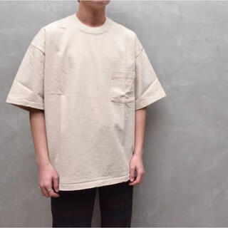 AURALEE オーラリー スタンドアップT サイズ4 アイボリーベージュ(Tシャツ/カットソー(半袖/袖なし))