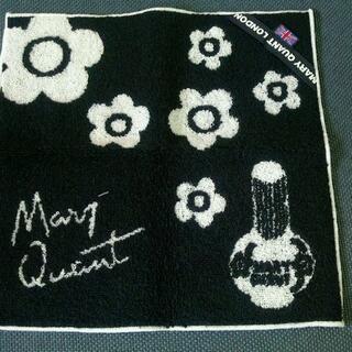 マリークワント(MARY QUANT)のマリークワント・タオルハンカチ(黒)(ハンカチ)