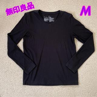 ムジルシリョウヒン(MUJI (無印良品))の無印良品 レディース ロンT  長袖 tシャツ  カットソー  Mサイズ(Tシャツ(長袖/七分))