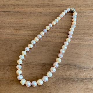 【淡水真珠】〈新品未使用〉大粒ピンクパールネックレス(ネックレス)