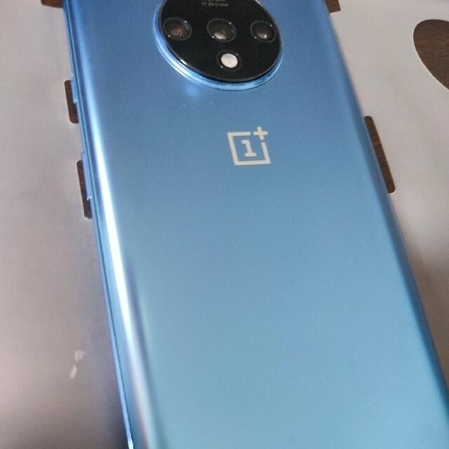 美品 OnePlus 7T 256GB グレイシャーブルー グローバル版 スマホ/家電/カメラのスマートフォン/携帯電話(スマートフォン本体)の商品写真