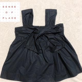 センスオブプレイスバイアーバンリサーチ(SENSE OF PLACE by URBAN RESEARCH)のセンスオブプレイスバイアーバンリサーチ  リボントップス(Tシャツ(半袖/袖なし))