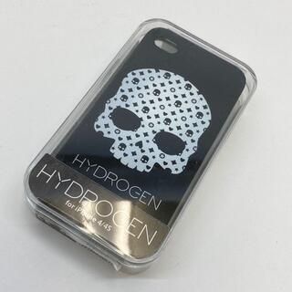 ハイドロゲン iPhoneケース スカル プラスチック樹脂 ブラック/黒