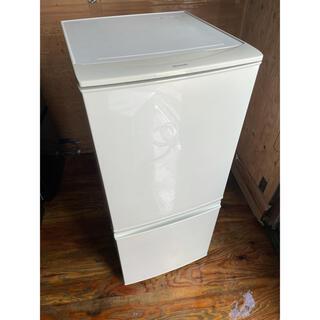 シャープ(SHARP)の97 SHARP 2ドア冷蔵庫 SJ-D14B-W 2016年製(冷蔵庫)