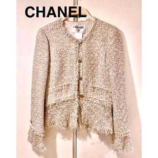 シャネル(CHANEL)の正規品 CHANEL ジャケット ツイード ドレス カーディガン コート(ノーカラージャケット)
