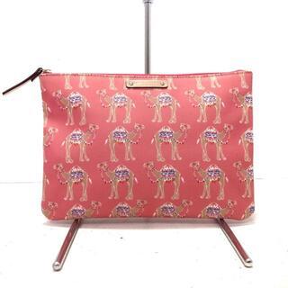 ケイトスペードニューヨーク(kate spade new york)のケイトスペード美品  - WLRU4837 ラクダ柄(クラッチバッグ)