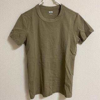 ユニクロ(UNIQLO)のUNIQLO ユニクロ クルーネックT オリーブ(Tシャツ(半袖/袖なし))