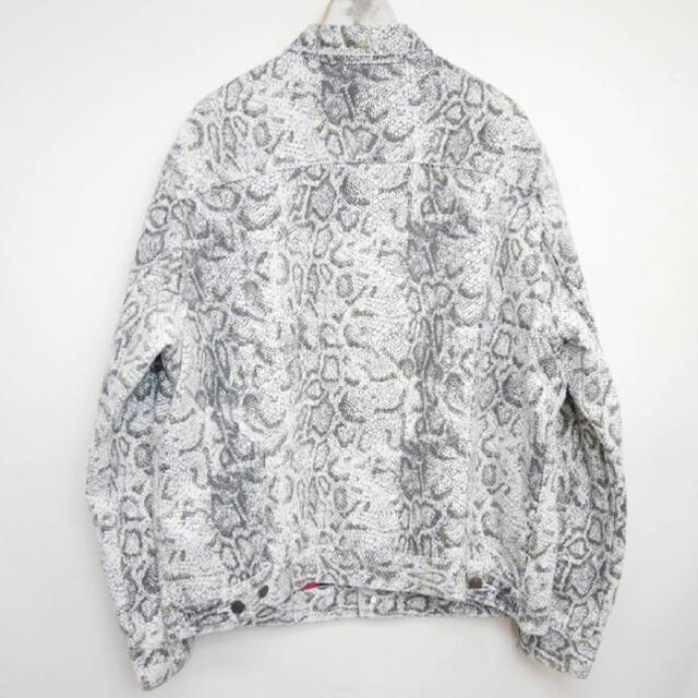 Supreme(シュプリーム)の今だけ金額!超美used品シュプリームxリーバイス 白蛇ジャケットXL メンズのジャケット/アウター(Gジャン/デニムジャケット)の商品写真