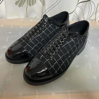 シャネル(CHANEL)の試着のみ未使用 シャネル CHANEL レースアップ シューズ サイズ37C(ローファー/革靴)