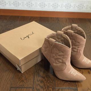 アングリッド(Ungrid)の新品♡ungrid♡スウェードウエスタンヒール(ブーツ)