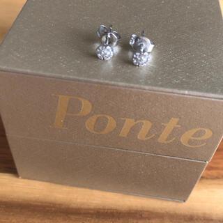 PonteVecchio - 現行品 66000円 美品 ポンテヴェキオ WGピアス ダイヤ 0.12ct