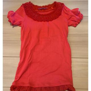 ドーリーガールバイアナスイ(DOLLY GIRL BY ANNA SUI)のアナスイ キッズ レディース ドーリーガール サイズ2  フリル Tシャツ(Tシャツ(半袖/袖なし))
