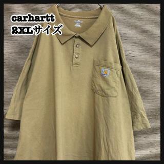 carhartt - 【カーハート】半袖襟付きTシャツ 胸ポケット アースカラー ポロシャツ80