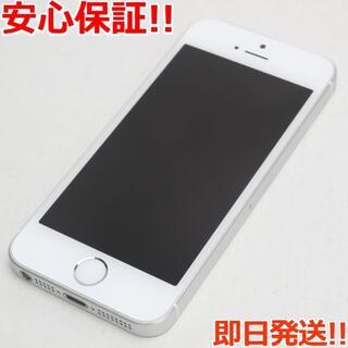 アイフォーン(iPhone)の新品同様 SIMフリー iPhoneSE 16GB シルバー (スマートフォン本体)