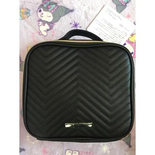 シマムラ(しまむら)の新品 未使用 しまむら キルティング メイクBOX バニティポーチ 大容量 黒(メイクボックス)