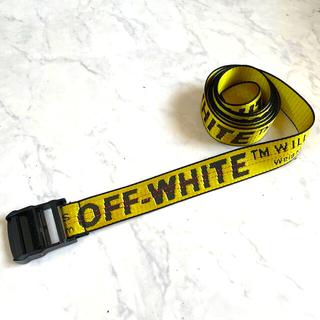 オフホワイト(OFF-WHITE)のOFF-WHITE ナイロンベルト イエロー(ベルト)