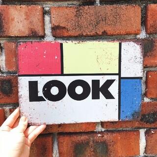 ルック(LOOK)のLOOK レトロ ブリキ看板(パーツ)