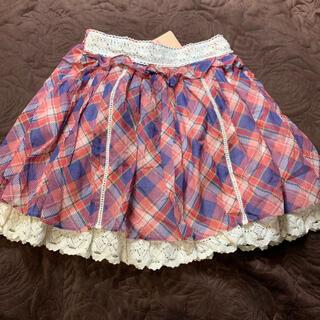 リズリサ(LIZ LISA)のLIZLISA チェック柄フレアスカート(ミニスカート)