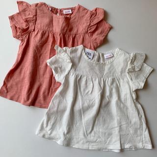 ザラキッズ(ZARA KIDS)のzarababy ザラベビー フリル付き半袖Tシャツ (Tシャツ)