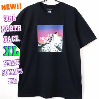ザノースフェイス(THE NORTH FACE)のサラサラ 高品質 ♪ ノースフェイス ヒマラヤン サミット Tシャツ 黒 XL (Tシャツ/カットソー(半袖/袖なし))