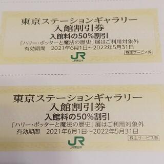 ジェイアール(JR)のJR東日本優待券の東京ステーションギャラリー半額割引券8枚300円(美術館/博物館)
