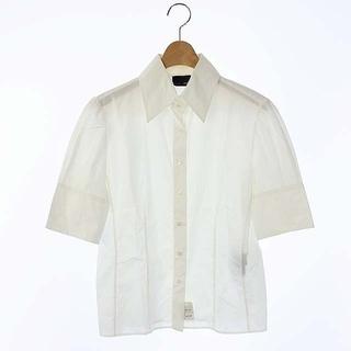フェンディ(FENDI)のフェンディ FENDI シャツ ボタンダウン 半袖 42 白 ホワイト(シャツ/ブラウス(半袖/袖なし))