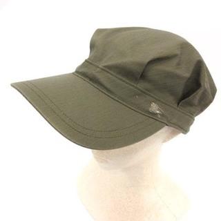 BURBERRY BLUE LABEL - バーバリーブルーレーベル キャスケット キャップ 帽子 59cm カーキ