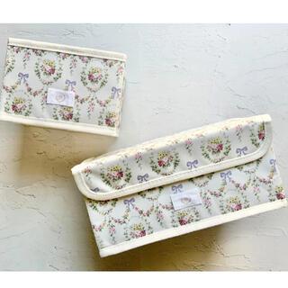 メゾンドフルール(Maison de FLEUR)のメゾン ド フルール 花柄収納ボックス 2個セット(ケース/ボックス)