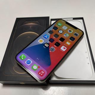 アイフォーン(iPhone)の美品iPhone12 ProMax 128GB ゴールドドコモSIMロックフリー(スマートフォン本体)