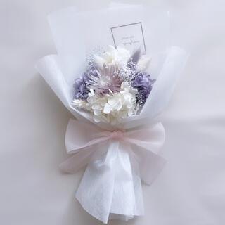ラベンダー系 ドライフラワー 花束 ブーケ ラッピングブーケ ギフト プリザ(ドライフラワー)