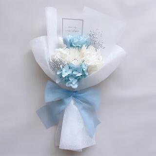 ブルー系 ドライフラワー 花束 ブーケ スワッグ ギフト プリザ(ドライフラワー)
