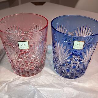 カガミクリスタル 江戸切子ペアロックグラス TPS370-2943AB(グラス/カップ)