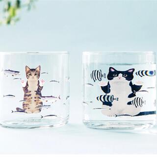 フェリシモ(FELISSIMO)のおいしそうだニャ〜猫さん夢の水族館グラス(グラス/カップ)