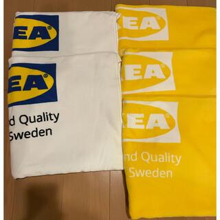 イケア(IKEA)のIKEA バスタオル 白2枚 黄色3枚 セット(タオル/バス用品)