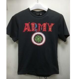 アールディーズ(aldies)のアールディーズ ALDIES Tシャツ ARMY アーミー 刺繍 モコモコ(Tシャツ/カットソー(半袖/袖なし))