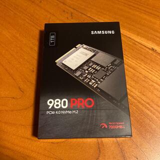 SAMSUNG - SAMSUNG 980 PRO 1TB PCIe 4.0 M.2 国内正規品