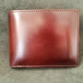 ガンゾ(GANZO)の【未使用  美品】GANZO(ガンゾ)コードバン二つ折り財布(折り財布)