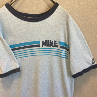 ナイキ(NIKE)の90s NIKE ゴツナイキ リンガー Tシャツ ゆるだぼ vintage(Tシャツ(半袖/袖なし))