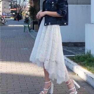 リゼクシー(RESEXXY)のリゼクシー アシメオールレーススカート(ロングスカート)