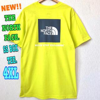 ザノースフェイス(THE NORTH FACE)の超ビッグ 夏カラー 新品 ノースフェイス BOX Tシャツ イエロー 4XL 〜(Tシャツ/カットソー(半袖/袖なし))