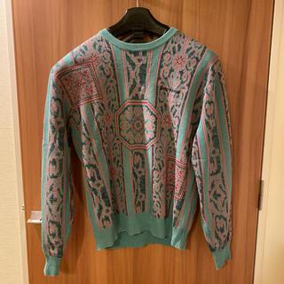 シュプリーム(Supreme)のsupreme tapestry sweater Teal サイズM(ニット/セーター)
