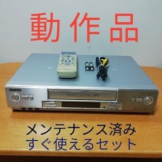 ミツビシ(三菱)のMITSUBISHI SVHSビデオデッキ HV-S550 動作品メンテナンス済(その他)