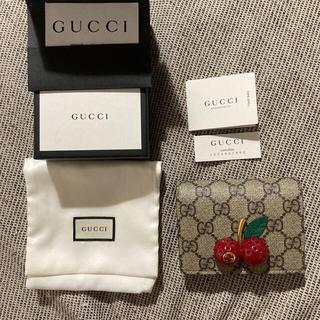Gucci - GUCCI チェリー さくらんぼ 財布 ミニ財布 折りたたみ財布