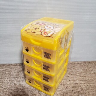 ディズニー(Disney)の【新品未開封】プーさん ペン立て付き ミニチェスト 5段収納BOX(ケース/ボックス)